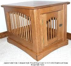 wooden dog crate custom built colonial wooden dog crate end table diy wood dog crate plans