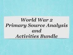 World War 2 Review Activity Middle School High School