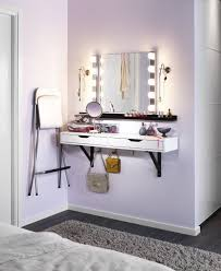 Vanity table Diy Carve Out Little Space Just For Pampering Mount The Ekby Alex Wall Shelf To Create Dressing Table Without Taking Up Valuable Floor Space Pinterest Ekby Alex Shelf With Drawers White Cool Diy Projects Pinterest
