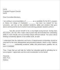 Sample Recommendation Letter For Graduate School Newfangled Depict