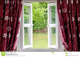open window with curtains. Simple Curtains Open Window Draped In Curtains With Window Curtains G