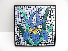 mosaic wall decor: spring nature trending march gifts unique gift ideas decor iris in spring collage eggshell mosaic spring
