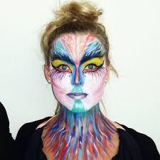 tropical bird inspired makeup