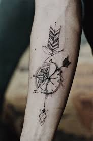 Arrow Compass Tattoo Artwork By Outsider Tattoo Tattoo Arrow