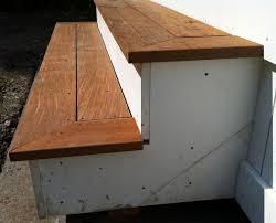 exterior stair treads deck stair tread and riser aesthetics carpentry diy room