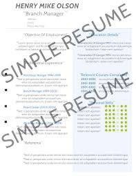 a simple resume doc mittnastaliv tk a simple resume 23 04 2017