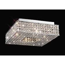 diyas il30431 piazza ceiling square 4 light polished chrome crystal