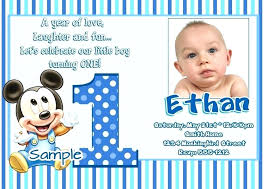baby mickey 1st birthday invitations birthday invitations birthday fancy free birthday invitations about invitation intended for