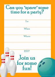 bowling invitation templates free printable bowling party invitation templates image group 50
