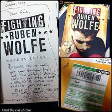 fighting ruben wolfe by markus zusak perfect nostalgia signed fighting ruben wolfe