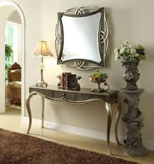 silver hall table. Mirror And Console Modern Dressing Table Hall Black Silver Drawer Wall