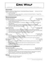 Political Science Resume Sample. Political Science Resume Sample ...