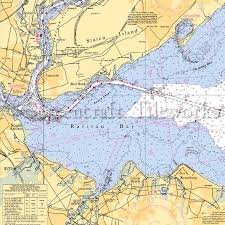 New Jersey Raritan Bay Sewaren Nautical Chart Decor