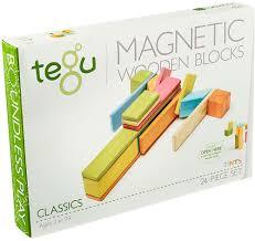 tegu magnetic wooden blocks classics 24 piece set tints