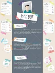 Modern Resume Color Modern Resume Cv Curriculum Vitae Template Design With Color