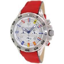 nautica watches overstock com the best prices on designer mens nautica men s n24515g red resin quartz watch silvertone dial