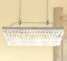 clarissa chandelier pottery barn rectangular extra long crystal chandelier for chandelier gallery 4 of clarissa drop