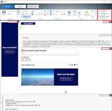 Email Buttons Email Layout Codetwo Signature Template Editor Users Manual
