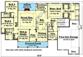8 bedroom house plans.  House Elegant 4 Bedroom House Plan With Options  11712HZ Floor Plan Basement  Version For 8 Plans O