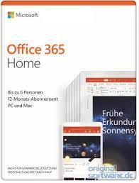 Microsoft Office 365 Home 1 Jahres Lizenz Bis Zu 6 Benutzer