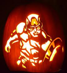 Captain America Pumpkin Designs Captain America Pumpkin Glow