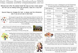 Class Newsletter Oak Class Newsletter September 2018 Little Munden Primary