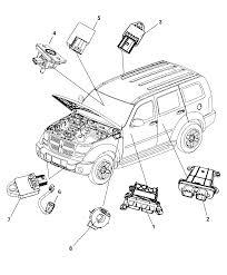 2009 dodge nitro air bag modules impact sensor clock springs diagram i2221722