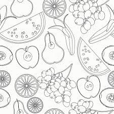Mod Le Sans Couture Coloriage Past Que Fruits Orange Kiwi