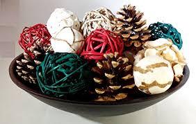 Decorative Vase Filler Balls Festive Holiday Mix Decorative Spheres Rattan Balls Pine Cones And 50