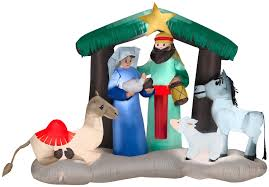 nativity scene christmas yard decoration