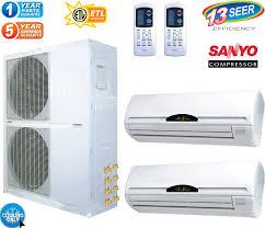 2 zone mini split. Beautiful Zone 5 Ton Mini Split Air Conditioner W Heat Pump On 2 Zone U