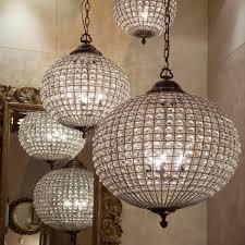 exquisite crystal globe chandelier 15 beautiful