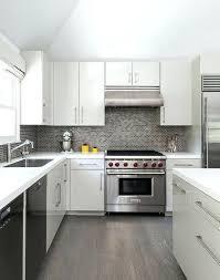 grey kitchen backsplash excellent white and gray kitchen with gray mini brick tile within gray kitchen