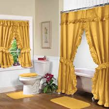 this luxurious deluxe double swag shower curtain will make a complete ensemble for your bathroom