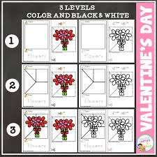 Cut and Paste Fine Motor Skills Puzzle Worksheets: Valentine's Day ...