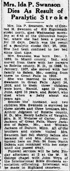 Ida Swanson obit - lived in Salem, MO - Newspapers.com