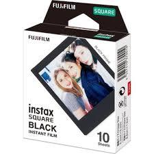 <b>Fujifilm Instax Square Black</b> Instant Film (10 Exposures) | Bedfords ...