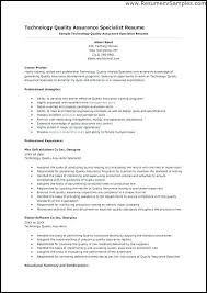 Sample Of Modern Resume For Quality Assurance Specialist Quality Assurance Resume Skinalluremedspa Com