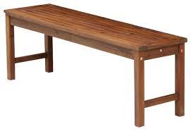 acacia wood patio bench transitional