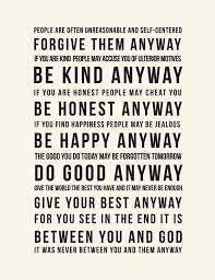 Mother Teresa Quotes On Life Do It Anyway