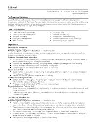 Police Officer Resume Samples Police Officer Resume Experience Resumes 46