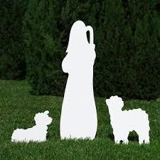 silhouette of shepherd figure