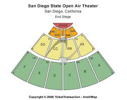 San Diego State Open Air Theatre Seating Chart San Diego State Open Air Theatre Seating Chart