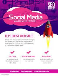 Social Media Design Templates Social Media Management Service Template Postermywall