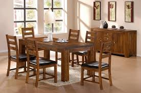 Dining Room Charming Dining Room Furniture Using Acacia Wood - All wood dining room sets