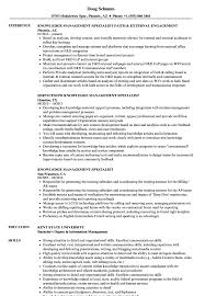 Sample Management Specialist Resume Knowledge Management Specialist Resume Samples Velvet Jobs