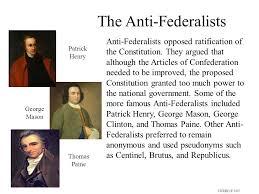 federalist vs anti federalist ppt video online the anti federalists