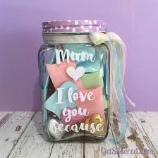 How To Decorate A Jar I love you becauseFill a jar with Sentiments Decorated jars 7