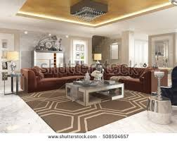 deco style furniture. Living Room In Art Deco Style With Upholstered Designer Furniture. A Gold Ceiling And Furniture