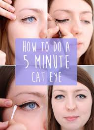 makeup cateye how do to a five minute cat eye